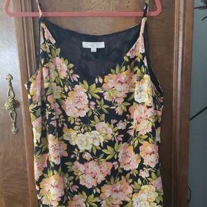 Loft Cami Navy Floral Size 20